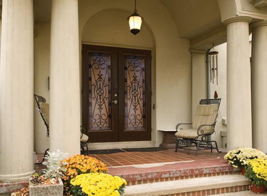 Impact doors - fiberglass - glass insert