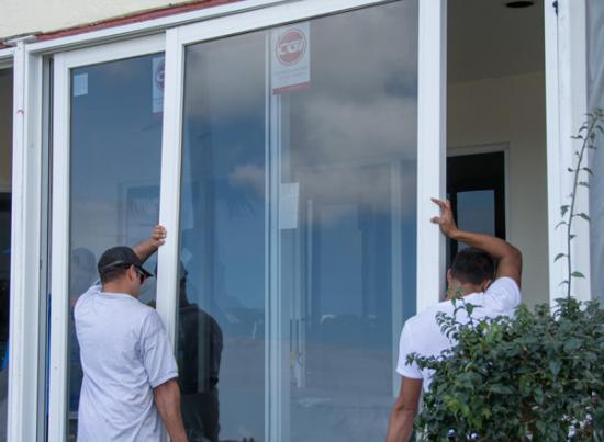 Impact entry door installation