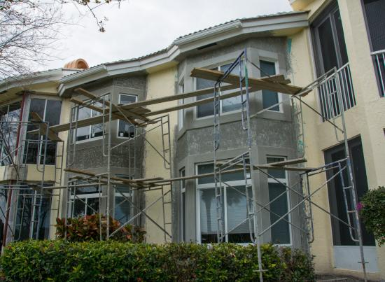 Scaffolding for community window replacement