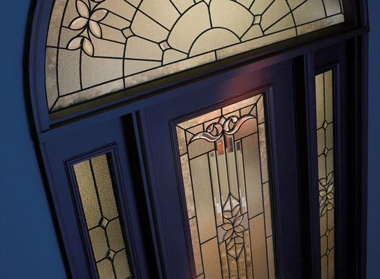 Plastpro Single Entry Door with Sidelites and Architectural Transom