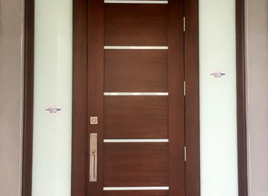 Millwork 360 Single Entry Door with Sidelites
