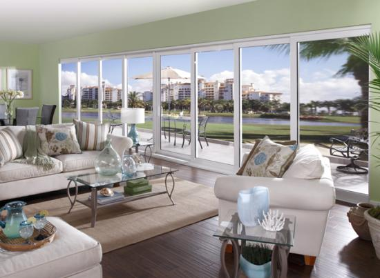 Sliding glass impact doors vinyl