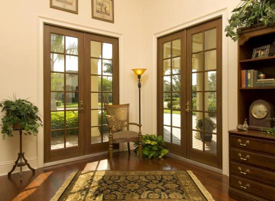 French doors - impact doors - winguard aluminum - pgt
